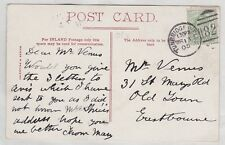 GB EVII E7 PPC 1905 ½d yellow green DLR Tunbridge Wells duplex 820 postmark