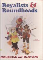 ROYALISTS & ROUNDHEADS I- ENGLISH CIVIL WAR QUADRIGAME - WARGAME 3W