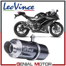 Exhaust Leovince Gp Corsa Carbon Fiber Kawasaki Ninja 300 R/Abs 2013 > 2016