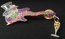Hard Rock Cafe Key West Top Hat New Years 2002 Guitar Pin
