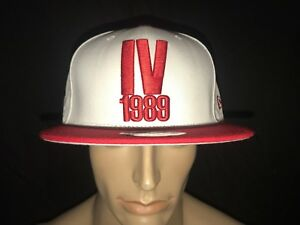 New Era Jordan Retro IV Alternate Snapback LE Cap Hat Red White