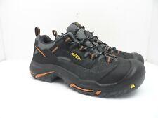 Keen MEN'S BRADDOCK LOW STEEL TOE Work Shoe BLACK/BOSSA NOVA 9EE