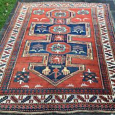 "Kazak Shield Prayer Sewan Rug, Armenian  6'1"" x 7'8"", Super Rare Caucasian"