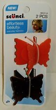 1 Pack Of 2 Scunci Claw Clips Get 2 Clips 1 Orange & 1 Amber Brown