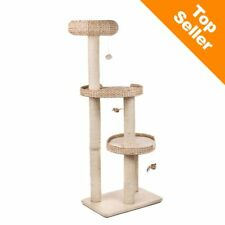 Cat Tree Sturdy Solid Wood Base Sleeping Areas Large Cats Spacious Gift