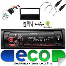 Vauxhall Meriva A Facelift CD30 Pioneer Car Stereo MP3 USB & Black Fascia Kit