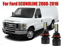 LED ECONOLINE E150-E450 2008-2016 Headlight Kit H13 6000K Bulbs High/Low Beam
