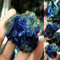 Natural Azurite Malachite Geode Crystal Mineral Specimen Reiki Healing Stone TR