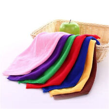 10PC Soft Microfiber Face Square Towel Home Kitchen Cleaning Wash Cloth Colorful