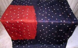 Rust Navy Blue Pure Silk 4 yard Vintage Sari Bridal Surprise Gift Mart NR #6QGZL