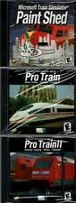 Microsoft Train Simulator Pro Train & Pro Train 2 & Paint Shed Pc All 3 New