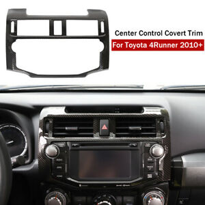 Central Console Navigation Frame Cover Trim for Toyota 4Runner 10+ Carbon Fiber