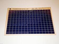 Microfich Teilekatalog Ersatzteilkatalog Suzuki TS 250 Stand 08/1988