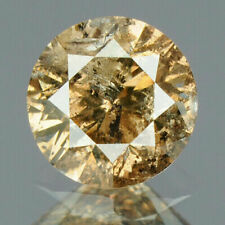 0.43 Carat NATURAL Sparkly Coffee Brown DIAMOND LOOSE for Setting Round Cut