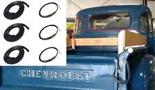 Back/Corner Glass Rubber Seals w/ Chrome Trim for 47-54 Chevy/Gmc Truck 5 Window