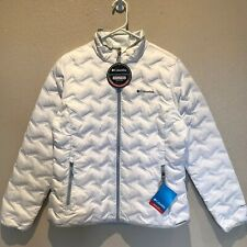 Columbia Womens Delta Ridge Down Jacket Water Repellent White Large