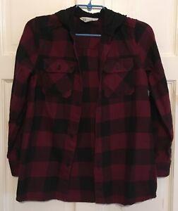 H&M Lumberjack Style Hoodie Shirt Size 152 cm