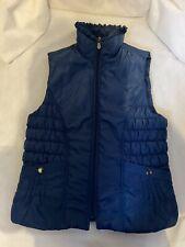 CLODAGH CALLAGHAN Ireland Blue Puffer Gilet Zip Front Outdoors Pockets UK 12