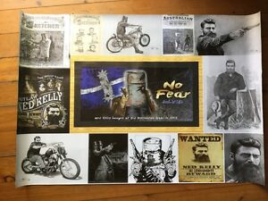 Ned Kelly mancave flag sign poster man cave idea gift printed poster men's gift