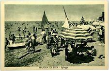 Cartolina Formato Piccolo - Marina Di Pisa - Spiaggia Viaggiata
