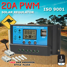 20A Battery Regulator PWM Solar Panel Charge Controller LCD Display USB 12V 24V