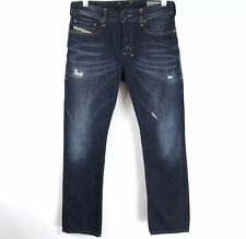 Diesel Mens Zatiny Jeans Regular Bootcut Distressed Dark Wash Size 28