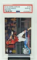 2018 Topps Chrome Nationals VICTOR ROBLES Rookie Baseball Card PSA 10 GEM MINT