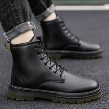Chic Mens Lace up Round toe High top Casual Shoes Winter Work Boots Ankle Boots