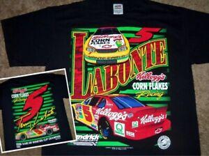 NEW VINTAGE 90's TERRY LABONTE KELLOGG'S CORN FLAKES 1997 NASCAR SHIRT XL RARE!