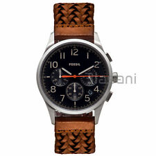 Fossil Original FS5294 Unisex Vintage 54 Brown Leather Watch 42mm Chronograph
