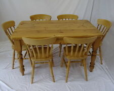 Unbranded Pine 7 Pieces Table & Chair Sets