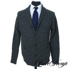 #1 MENSWEAR J. Crew Forest Green Donegal Speckled Pub Jacket Cardigan Sweater M