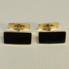 Norway Aksel Holmsen 925 Sterling Black Enamel Double Sided Cufflinks Art Deco