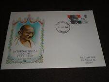 "1969 Go timbres ""Gandhi"" PHILART FDC Torquay Devon IDE ANNULE"
