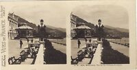 Monaco Vista Sur Les Terrasses Del Casinò Stereo Vintage Analogica Ca 1910