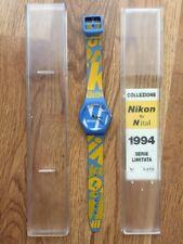 Rare Nikon by Nital 1994 Serie Limitata #'d Quartz Watch Men's NIB Italy