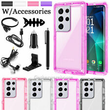 For Samsung Galaxy S21 + Ultra Shockproof Clear Phone Case Cover / Accessories