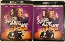 THE SPY WHO DUMPED ME 4K ULTRA HD BLU RAY 2 DISC SET + SLIPCOVER SLEEVE FREESHIP