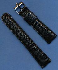 Rolex Steel Buckle,  New 20mm Black Genuine Lizard Strap Band Tang Submariner