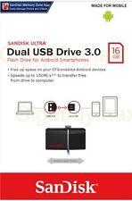 SanDisk 16GB OTG Ultra Dual microUSB 16G USB 3.0 Pen Drive SDDD2-016G Retail