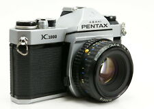 Pentax K1000 35mm SLR Film Camera with 50mm f/2 Lens New Light Seals TESTED