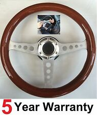 WOODEN WOOD QUICK RELEASE STEERING WHEEL & BOSS KIT FIT VW T4 TRANSPORTER 96>