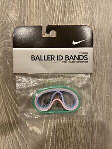 New Nike Vtg 2005 YOUTH Baller ID Bands Bracelets 3 Pack Pastel Pink Green Blue