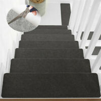 US 14PCS Stair Tread Carpet Step Non-Slip Staircase Mat Protection Cover Pads