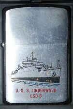 ZIPPO USS LINDERWALD LSD 6 REGULAR - USED 1961