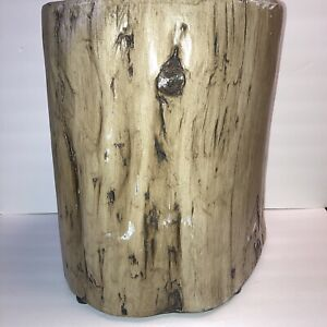 Project 62 Faux Wood Round Accent Table Tree Stump Indoor/Outdoor Table