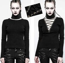 Haut pull réversible gothique punk lolita fashion décolleté laçage sexy Punkrave