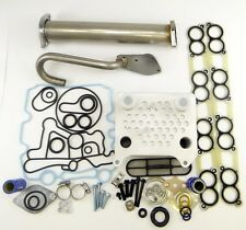 For Ford 6.0L Diesel Turbo EGR Delete Kit Engine Oil Cooler & Cooler Kit Gaskets