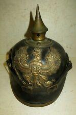 Helmet Tip, Spikelhelmet, Pickelaub: Helmet Prussian mod.1895 Troupe. WW.1