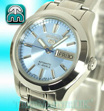 New Seiko 5 Automatic Two Toned Blue Face Day and Date SYMD89K1